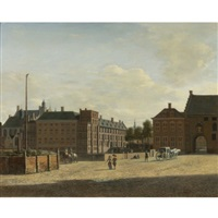 the plaats with the binnenhof and the gevangenpoort, the hague by gerrit adriaensz berckheyde