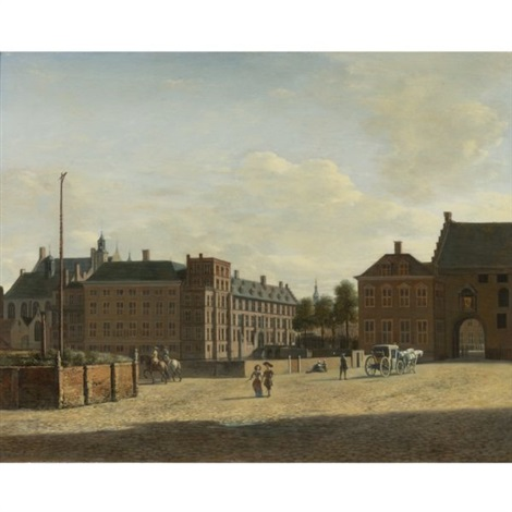the plaats with the binnenhof and the gevangenpoort the hague by gerrit adriaensz berckheyde