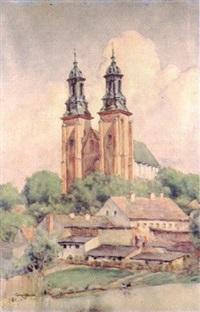 widok z kościołem by aleksander augustynowicz