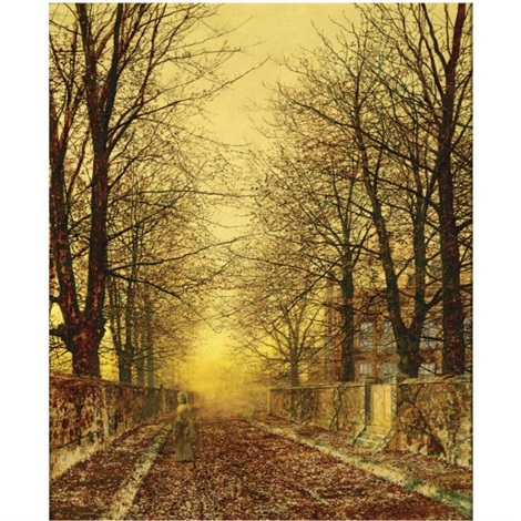 a golden country road by john atkinson grimshaw