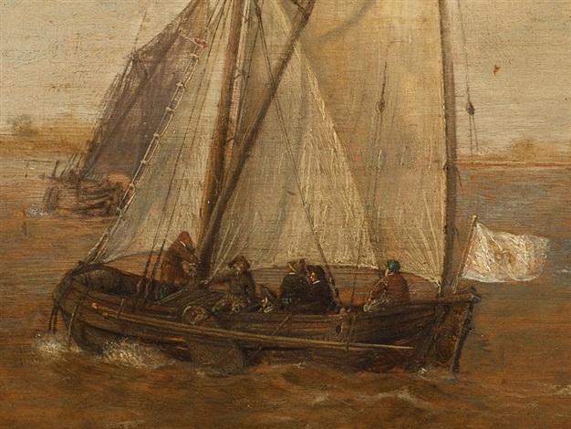 ships in the harbour by jan borritsz smit