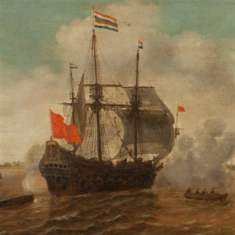 ships in the harbour by jan borritsz smit