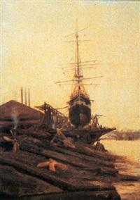 bordeaux, le chantier naval de lormont by jacques-marie omer camoreyt