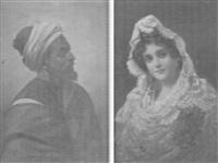 porträtt av arabisk man by luis del aguila