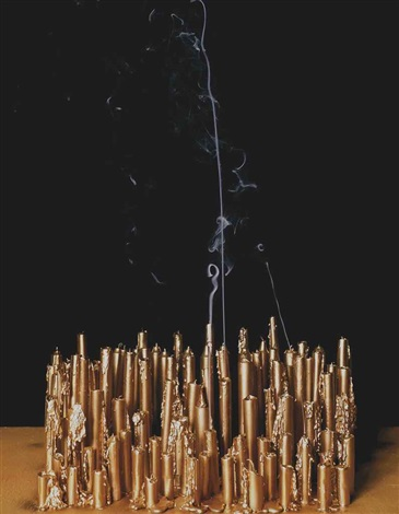 blown out candles fake gold by hanna liden