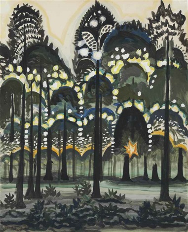 sunrise in the forest by charles ephraim burchfield