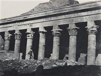 nubie, grand temple d'isis à philae, galerie orientale by maxime du camp