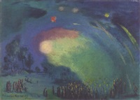 fireworks display by frances avery