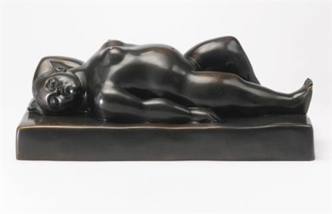 sleeping woman by fernando botero