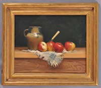 still life with pitcher and apples by milne ramsey