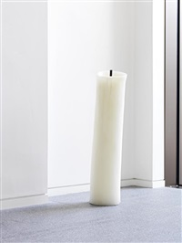 a candle in the shape of a candle by david shrigley