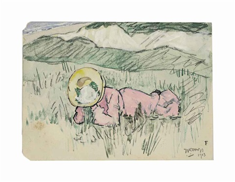 in the dunes by jan toorop