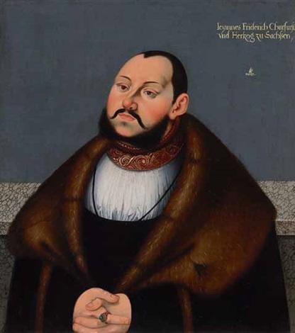 brustporträt des kurfürsten johann friedrich von sachsen genannt der großmütige by lucas cranach the younger
