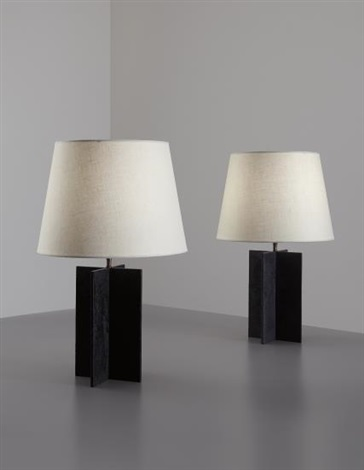 Pair Of Croisillon Table Lamps, From The Hotel Horizonte, Mar Del Plata By  Jean