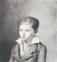 autoportrait de l'artiste adolescent by joseph-benoit guichard