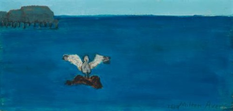 gull sea by milton avery