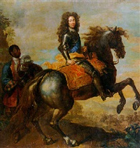 equestrian portrait of a german prince by herman hendrik quiter