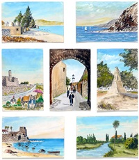 drawings of israel (set of 7) by franz reichental