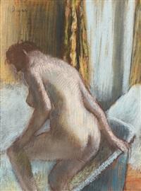 le bain by edgar degas