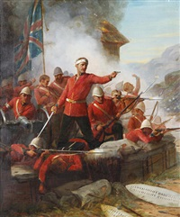 the battle of rourke's drift, zululand, south africa, 22nd january by sydney percy kendrick