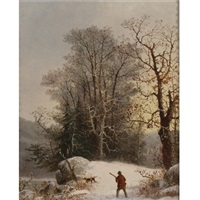 the hunter by george henry durrie