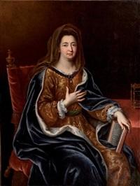 portrait de françoise d'aubigné, marquise de maintenon (1635-1719) en sainte françoise romaine by pierre mignard the younger