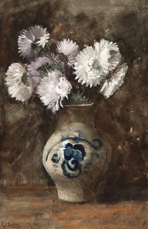 chrysanthemum in a pot by george hendrik breitner