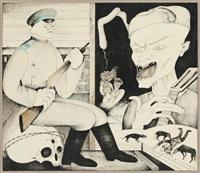 illustrations pour le livre des mémoires de vladimir vissotski (set of 6) by mihail chemiakin
