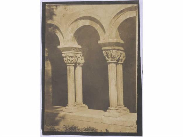 cloître, ancienne cathédrale sainte eulalie, elne (pyrénées- orientales) (from mission héliographique) by gustave le gray and auguste mestral