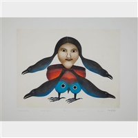 timmiaruqsimajuq (bird woman transformation) by kenojuak ashevak