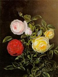 broget buket roser by l. hintze