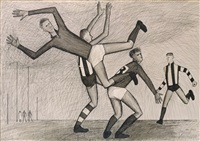 footballers by john brack