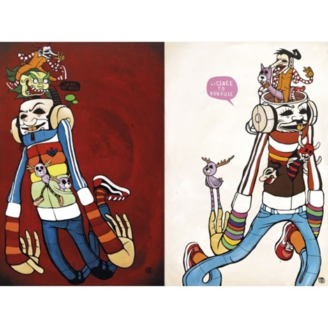 post oldskool neo nation diptych by indieguerillas