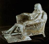 sittande flicka by martti aiha