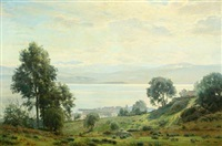 sea view, presumably ajaccio on corsica by christian peder mørch zacho