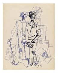 untitled (two workers with shovels) by hughie lee-smith