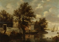 landscape with fishermen by anthony jansz van der croos