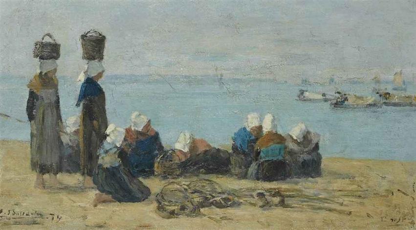 brest pêcheuses sur le rivage by eugène boudin
