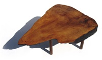 rare tree-trunk table (model 117) by carl auböck