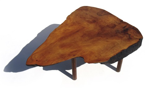 rare tree trunk table model 117 by carl auböck