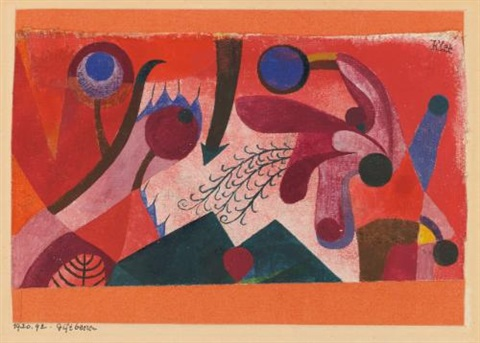 giftbeeren (poisonous berries) by paul klee