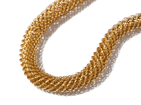 empire gold snake necklace woven in gold, around 1810