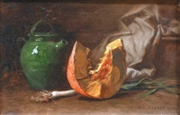 nature morte au potiron by edouard cabane