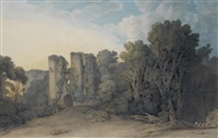 berry pomeroy castle in the county of devon by francis towne