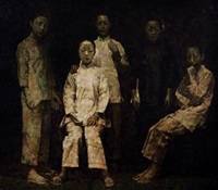 梳起的村姑 by lin yongkang