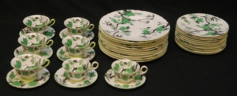 36pc shelly chippendale porcelain china set