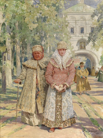 outside the monastery gate by vassily ivanovich navozov
