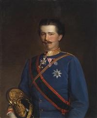 bildnis des prinzen wilhelm zu schaumburg-lippe (1834- 1906) als major des k. k. böhmischen infanterie regiments by austrian school (19)
