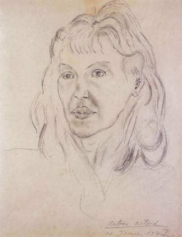 portrait de mania oïfer by antonin artaud