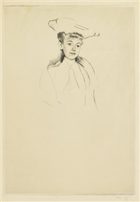 portrait sketch of mme fontveille (no. 2) by mary cassatt